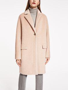 Max Mara ORLO пудра: Куртка из альпака сури и шерсти.