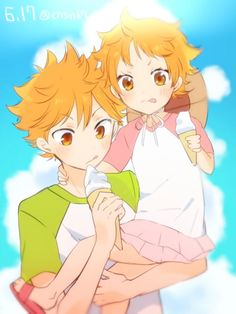 Hinata and his sister being too precious for words