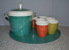 Items similar to Raffiaware Ice Bucket & Glass Set of 8 ~ Insulated Cups ~ Vintage Mid Century Serving on Etsy Insulated Cups, Vintage Kitchenware, Burlap, Bucket, Tray, Mid Century, Ice, Plastic, Glass