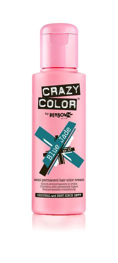 CRAZY COLOR SEMI PERMANENT HAIR DYE 100 ML - All Colours Available. just a hint of color on natural light hair. Crazy Color is one of the most well-established hair dyes around so don't let the retro bottle put you off - this stuff has staying power! Permanent Hair Dye Colors, Semi Permanent Hair Color, Lilac Hair, Rose Hair, Crazy Color Cyclamen, Overprocessed Hair, Vermilion Red, Hair Color Cream, Pink Bottle
