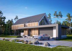 Aranżacje Inspiracje Wnętrza, design wnętrz, architektura wnętrz - Dodane w kategorii Architektura przez LKProjekt - Nowoczesny dom w skandynawskim stylu.