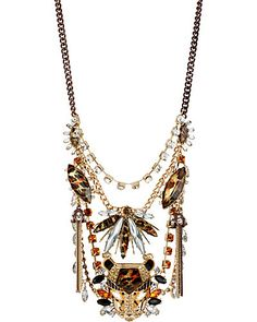 HOLLYWOOD GLAM CRYSTAL STONE NECKLACE