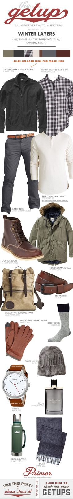 Stay warm in arctic temperatures by dressing smart.