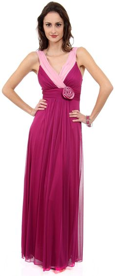 Two Toned Long Formal Dress