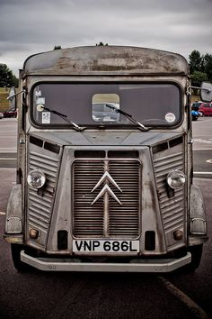 The menacing face of a Citroen H looks straight out of science fiction.