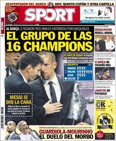 Los Titulares y Portadas de Noticias Destacadas Españolas del 30 de Agosto de 2013 del Diario Deportivo SPORT ¿Que le pareció esta Portada de este Diario Español?