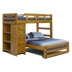 Bunk beds are a great option for small bedrooms as it saves on floor space. design can be modified easily for twin over queen bunk beds as well. A quirky L-shape could give a quirky dimension to your bedroom décor. Bunk Beds For Boys Room, Adult Bunk Beds, Bed For Girls Room, Wood Bunk Beds, Bunk Beds With Stairs, Kid Beds, L Shaped Bunk Beds, Single Bunk Bed, Bunk Bed Designs