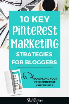 10 Key Pinterest Marketing Strategies for Bloggers. These Pinterest Marketing tips will help you grow your blog traffic on Pinterest! #PinterestMarketing, #PinterestMarketingStrategies, #BloggingTips, #GrowYourBlog Digital Marketing Strategy, Marketing Strategies, Marketing Plan, Social Media Marketing, Online Marketing, Affiliate Marketing, Pinterest Board Names, What Is Content Marketing, Seo For Beginners