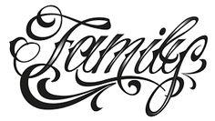 Resultado de imagem para caligrafia family