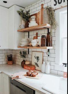 Home Decor Kitchen, Home Kitchens, Kitchen Dining, Diy Home Decor, Kitchen Ideas, Kitchen Cabinets, Design Kitchen, Diy Kitchen, Kitchen Utensils