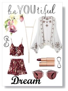 """☺"" by velenlymarques on Polyvore featuring Christian Dior, Tattify, Charlotte Tilbury and Dot & Bo"