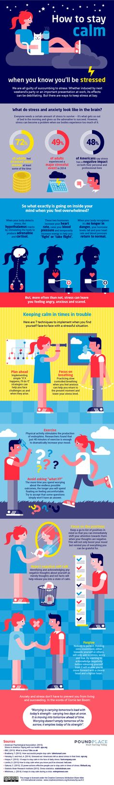 How to Stay Calm When You Know You'll Be Stressed [Infographic], via @HubSpot