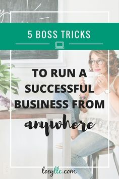5 Tricks To Run YOUR Business From Anywhere! Bloggers + entrepreneurs, you can master the laptop lifestyle. Work from anywhere! Build a successful business. Pin now, read later!