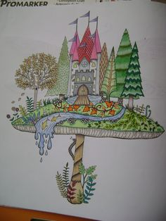 Mushroom Castle. Enchanted Forest