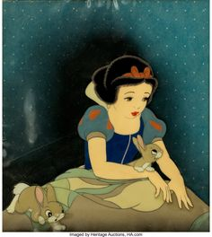 Snow White and the Seven Dwarfs Production Cel Courvoisier Setup (Walt Disney, A truly outstanding - Available at 2014 July 1 - 2 Animation Art. Disney Animated Movies, Disney Films, Disney Cartoons, Disney Art, Walt Disney, Disney Stuff, First Animation, Disney Animation, Animation Movies