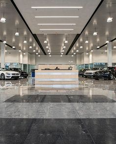 PHOTO OF THE WEEK Mercedes-Benz of Pompano Beach Florida one of the world's largest Mercedes dealerships is an empire of great design in particular because of the nearly 30000 sq ft of beautiful Crossville Empire tile used throughout the location. This elegant auto showroom is a bastion of elegance befitting the luxury automobiles it's created to display. // #interiordesign #tiledesign #tilework #tiles #tiled #tiling #tilelove #interior #interiors #interiordesigner #instadesign…