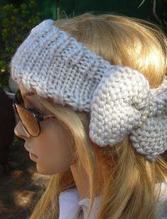 knitted head warmer