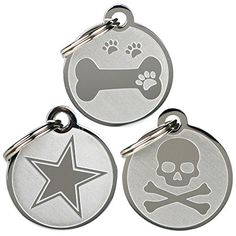 Playful, Custom Engraved Pet ID Tags. Solid Stainless Steel. Personalized Dog and Cat Pet Identification. Durable and Long Lasting Pet ID. *** Want to know more, click on the image.