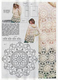 Fabulous Crochet a Little Black Crochet Dress Ideas. Georgeous Crochet a Little Black Crochet Dress Ideas. Blouse Au Crochet, Gilet Crochet, Black Crochet Dress, Crochet Coat, Crochet Motifs, Crochet Cardigan Pattern, Crochet Jacket, Crochet Diagram, Love Crochet