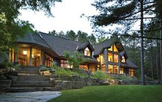 cottage - seabreeze road, lake of bays, ontario, canada (via torontolife.com)