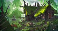 ArtStation - A Southern House and Yard, Erik Taberman Traditional Art, Concept Art, Yard, Artist, Artwork, House, Painting, Southern, Behance