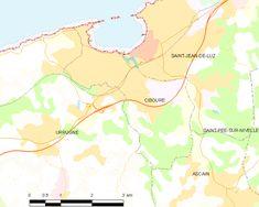 Map commune FR insee code 64189 - Ciboure - Wikipedia, la enciclopedia libre Father, Diagram, Coding, Map, World, Aquitaine, Tourism, Pai, Location Map
