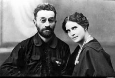 Chief architect of Vernyi (Almaty) A.P. Zenkov and his wife.