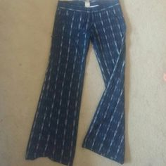 Linenen organic cotton print pants Georgie linen high quality pants with draw string georgie Pants Boot Cut & Flare