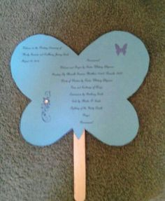 Program for wedding with butterfly theme