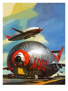 Wow, 747 and a blimp?