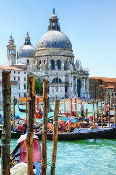 Santa Maria della Salute, Venice, I have a 19th C watercolor similar to this scene.
