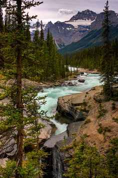 Mistaya River and Canyon - Banff National Park, Alberta, Canada