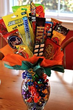 Fun with Barb - how to make a candy bouquet!! Easy Peasy!! by angel