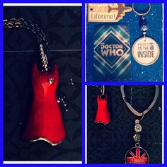 "DOCTOR WHO: CLARA OSWALD ""GIRL IN THE RED DRESS"" JEWELRY & GIFT SET! NEW!"