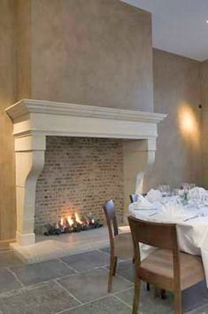 1000 images about fireplace french country on pinterest for French country stone fireplace