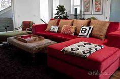 Big red sofa