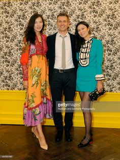 Xin Li, Robert Kyncl and Wendi Murdoch attend Susan Chokachi and Linda Fargo host a private dinner to introduce Gucci Decor at BG Restaurant, Bergdorf Goodman on September 6, 2017 in New York City.