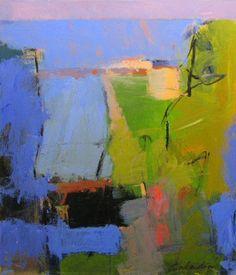 TONY SALADINO, Blue Field V - Color can be such an imagination kickstarter; loving this man's art.