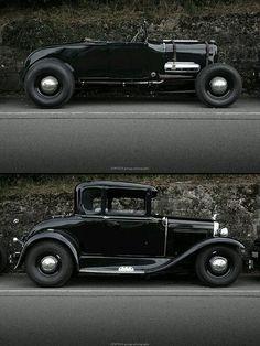 1928 フォード modelAロードスターとクーペ