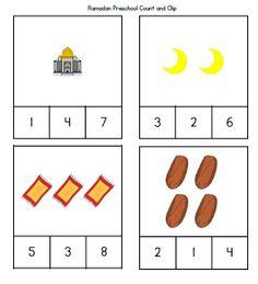 Ramadan Preschool Count and Clip Activity ~ TJ Ramadan