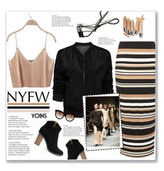 """""""What to Pack: NYFW"""" by meyli-meyli ❤ liked on Polyvore featuring mel, Italia Independent, Clinique, Bobbi Brown Cosmetics, NYFW, yoins, yoinscollection and loveyoins"""