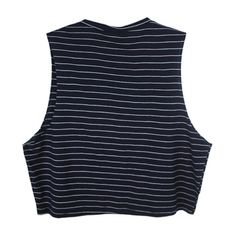 In The Navy Crop top ($44) ❤ liked on Polyvore