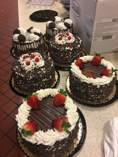 A variety of goodness! Fancy Cakes, Mini Cakes, Cupcake Cakes, Super Torte, Rodjendanske Torte, Cake Recipes, Dessert Recipes, Gourmet Cakes, Spring Cake