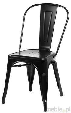 Krzesło Paris czarne inspirowane Tolix, Dkwadrat - Meble, 299zł