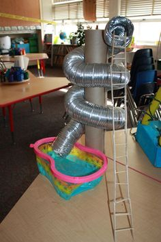 Screw- simple machine- water slide