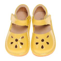 Pre Order Yellow Petal Patent Style Squeaky Shoes (June) – Southern Tots Squeaky Shoes, Crocs, Southern, June, Sandals, Yellow, Style, Fashion, Swag