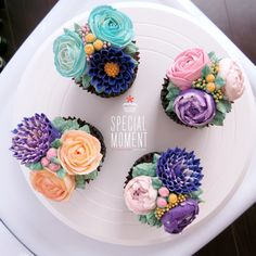 + Choco chocolate flower buttercream cupcake for Housewarming /wedding cupcakes/cupcake decorating tips ... made by SPECIAL MOMENT