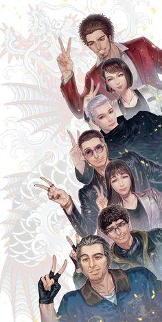 Gangster Games, Japanese Gangster, Yakuza Anime, Beat Em Up, Mini Games, Video Game Art, Drawing Reference, Cool Art, Geek Stuff