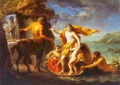 Thetis entrusting Achilles to the centaur Chiron .1746. Pompeo Batoni. Italian. 1708