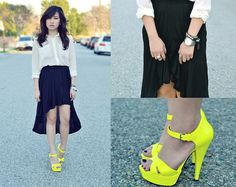 Yellow Obsession: --love the pop it gives her subtle outfit and other accessories--